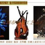 供应青岛酒店艺术品铁艺萨克斯大提琴吉他琵琶别样金属雕塑