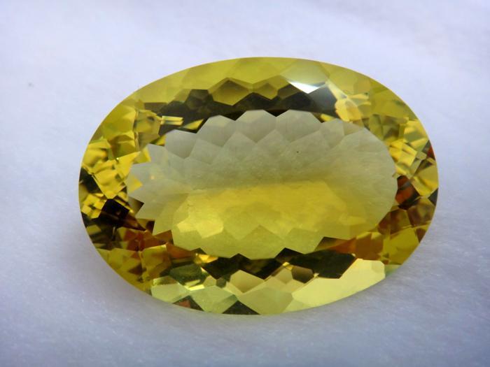 供应椭圆形黄色水晶柠檬晶戒面 可定制镶钦戒指 吊坠