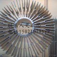 安徽大型太阳花散热器铝型材图片