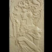 广东装饰砂岩浮雕欧式人物头像背景图片
