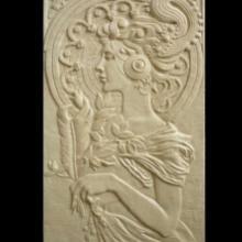 广东装饰砂岩浮雕欧式人物头像背景墙厂家直销