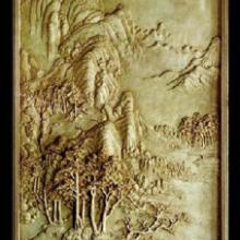 山水浮雕背景墙砂岩产品质感丰富高档气派
