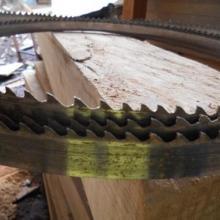 供应柚木地板料加工硬质合金木工带锯