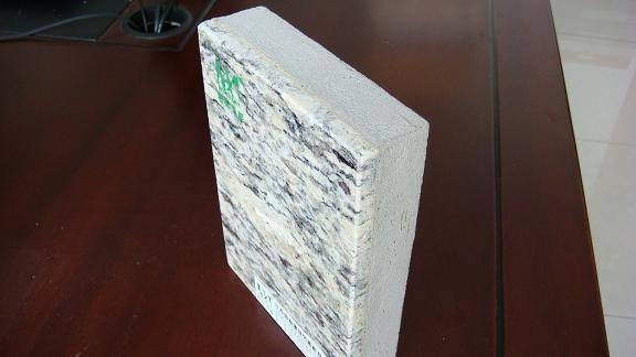 供应A级防火石材保温装饰一体化板(紫点金麻) 江浙沪地区专供