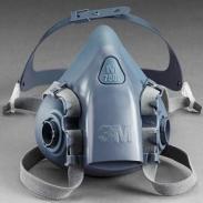 3M半面型硅胶防护面具7501/7502图片
