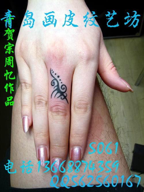 山东青岛手上个性纹身图案青岛画皮纹艺坊生产供应商图片