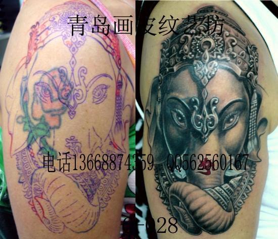 供应象神纹身图案青岛那里纹象神好
