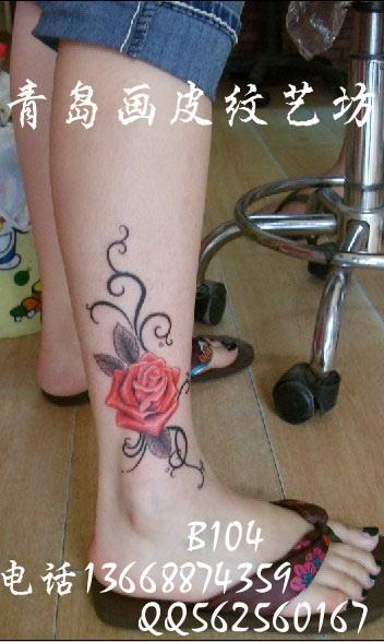锁骨玫瑰纹身图案图片_锁骨玫瑰纹身图案图片下载