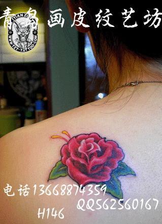 红玫瑰纹身图案大全青岛