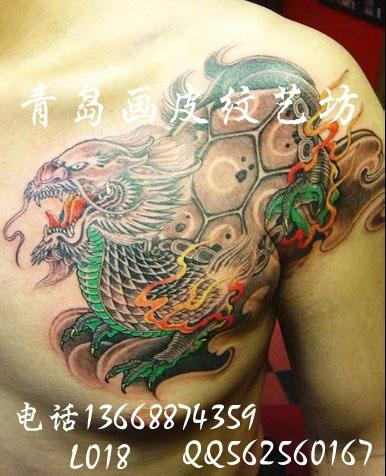 龙生九子饕餮纹身图片大全 供应龙生九子纹身图案龙纹身意图片