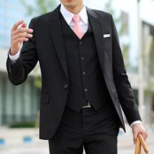 供应企业团体中高档工装西服套装定做 澳洲精纺羊毛羊绒绢丝导电丝