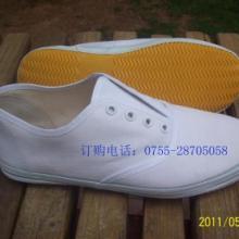 供应白色帆布演出鞋白色布鞋武术鞋演出鞋表演鞋体操鞋舞蹈鞋 白鞋批发批发
