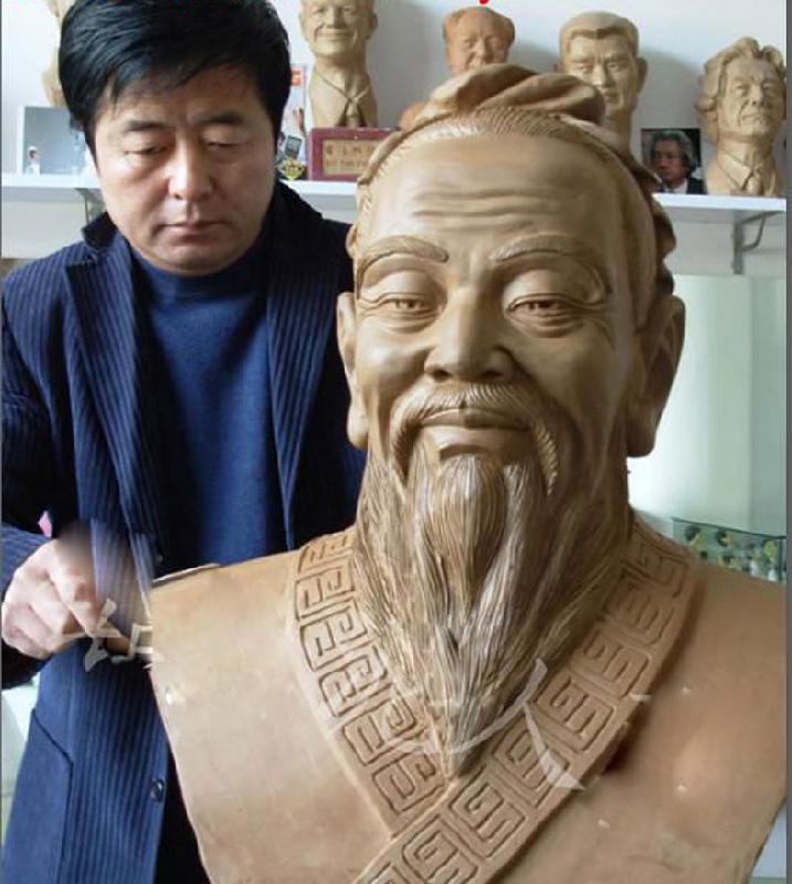 21 泥塑 银川泥人张 泥人张 肖像雕塑 雕塑 大型雕塑 佛