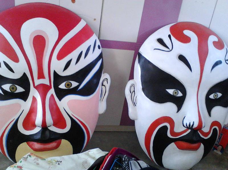 纸浆面具京剧脸谱图片