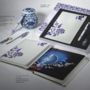 东莞高档特色青花瓷套装笔记本定做图片