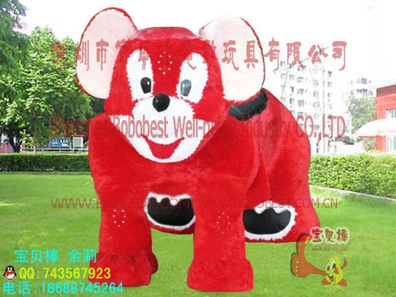 供应生肖电动玩具车毛绒动物玩具车,毛绒动物玩具图片