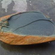 端砚石雕茶盘图片