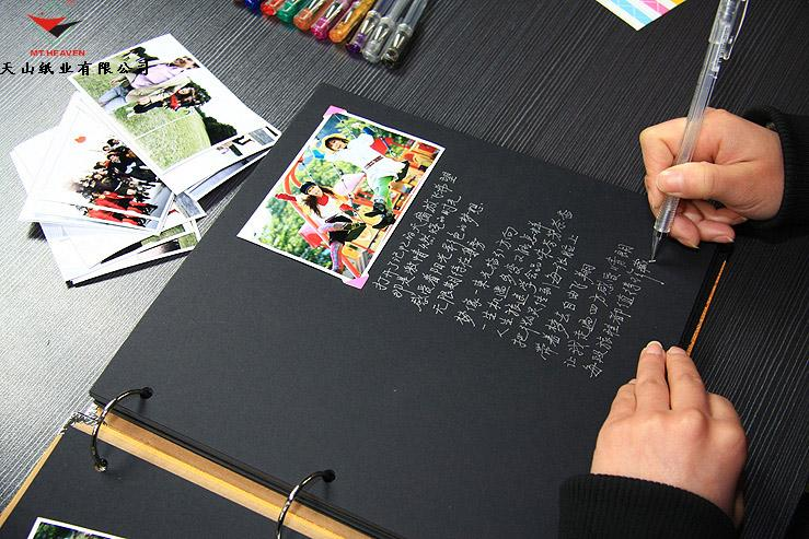 故事里 12寸手工相册 内页 黑卡 牛皮纸 单拍高清图片