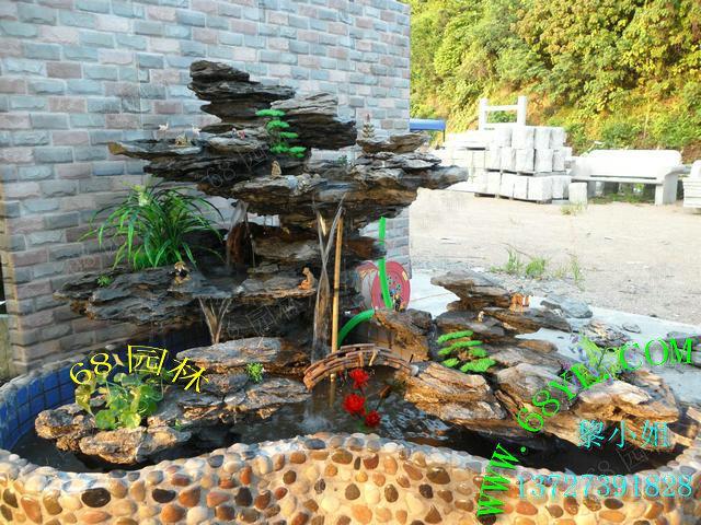 英德/供应英德英石假山水景 假山鱼池 流水喷泉园艺假山图片