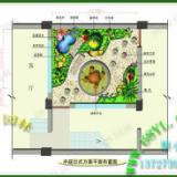 供应花园假山鱼池平面图效果图设计/园林景观效果图/假山鱼池设计