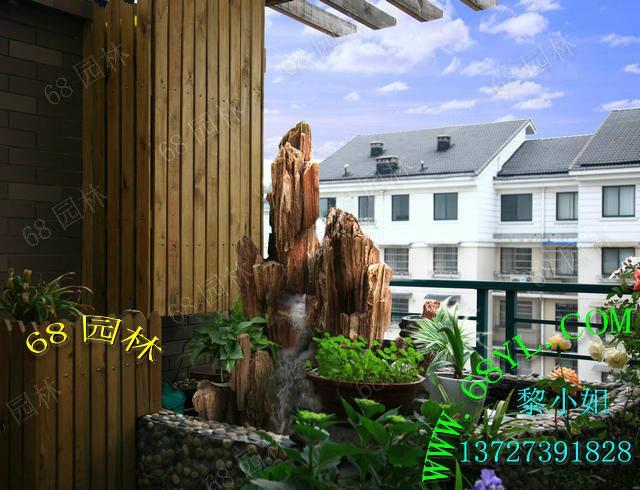 阳台假山鱼池图片 阳台假山鱼池图片大全 阳台鱼池假山效果图