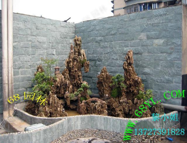 供应广州佛山最好看的天然山吸水石假山/雕刻真石山造景/欣赏自然大山