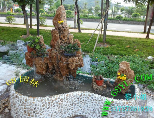 环境 鱼池/供应摆设吸水石假山鱼池 装饰家居环境舒适生活园林造景