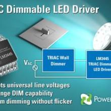 供应LM3445/LM3445MM调光器的LED驱动器