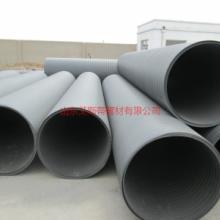 供应青岛HDPE双平壁钢塑复合管、钢塑缠绕管、里外塑料中间钢带排污管