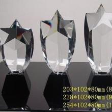 供应广州水晶奖杯,水晶五角星奖杯,水晶奖杯制作, 五角星水晶内雕奖杯批发