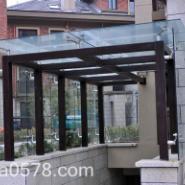 兰溪玻璃雨棚生产厂家/雨棚价格图片