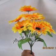 仿真九头向日葵把花仿真太阳花绢花图片