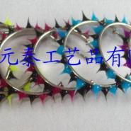拉丝毛毛球拉丝C型耳环-图片
