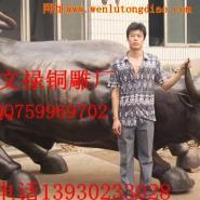 纯铜华尔街牛图片