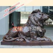 铸铜汇丰狮子北京门狮子青铜狮子图片