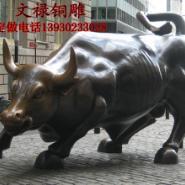开拓创新铸铜华尔街牛图片
