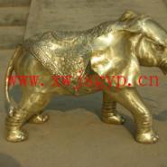 铜大象雕塑工艺品图片