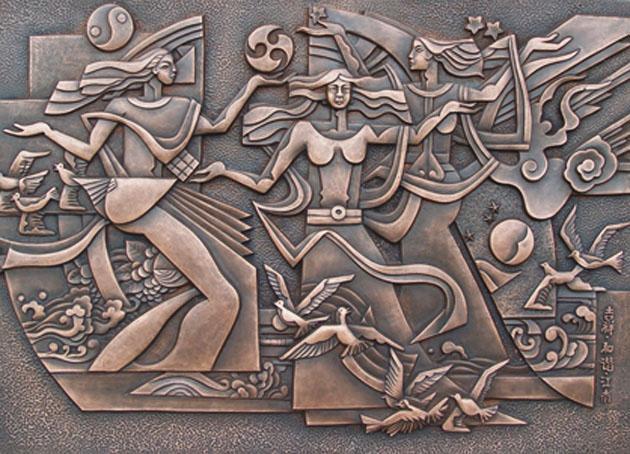 浮雕壁画图片 浮雕壁画样板图 砂岩浮雕壁画定做厂家 北京...