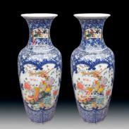 1米高青花瓷器花瓶图片