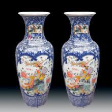 供应景德镇1米高青花瓷器花瓶百鸟朝凤陶瓷花瓶