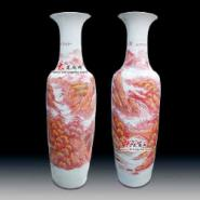 1米8釉下彩江山秀丽大花瓶图片