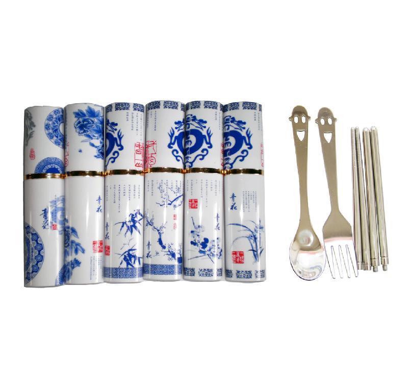 中国风脸青花系列餐具礼品销售