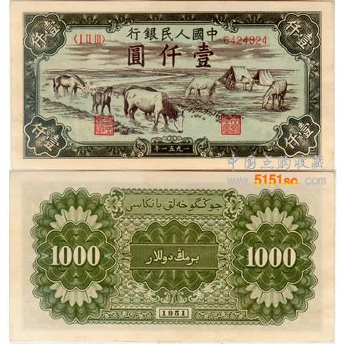 人民币是不是有一千元
