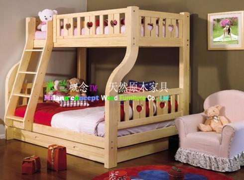 供应珠海家具订做100全实木儿童双层床/各类儿童家具/实木家具