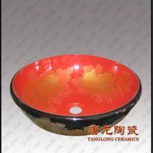 供应陶瓷洗脸盘手绘彩绘工艺品