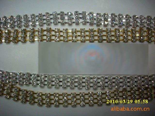 供应服饰链条水钻爪链、水钻胸针,服饰链条,服装钻饰,装饰扣