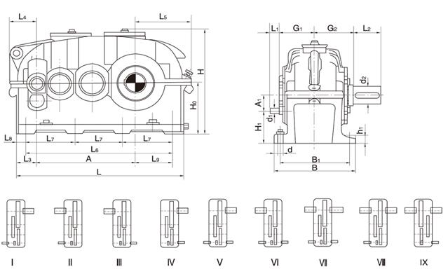 供应ZFY450硬齿面齿轮箱,快轴中间轴主轴箱体配件