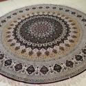 圆形地毯圆形真丝地毯图片
