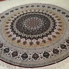 供应圆形地毯圆形真丝地毯