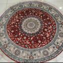 亿丝品牌手工真丝地毯圆形图片
